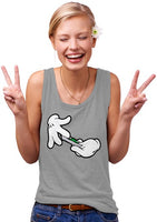 Womens Cartoon Hands Roll Joint Tank Top