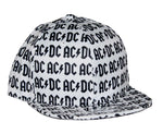 AC/DC All Over Logo Flat Bill Snapback Hat
