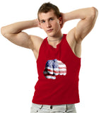 Punch Hand USA Flag Men's Tank Top