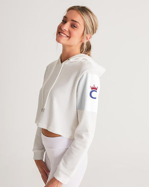 connfi_2020_icon_2color Women's Cropped Hoodie