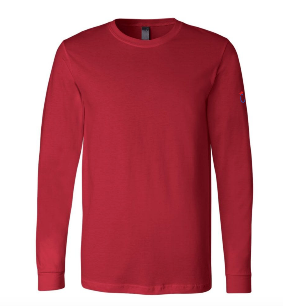 Performance Longsleeve Tee-- Red
