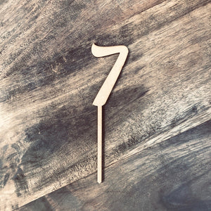 14cm 7 Number Cake Topper Number Cake Decoration Number Cake Toppers Birthday Cake Topper Cake Topper  Number Cake Topper #7 AND