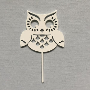 Owl Cup Cake Topper Cake Topper Cake Decoration Cake Decorating Cake Toppers Cupcake Toppers Baby Shower Cakes Birthday Cakes Owl Decor