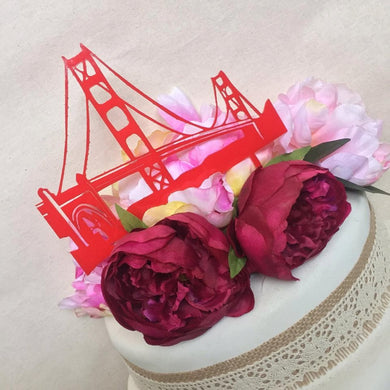 San Francisco Bridge Cake Topper Wedding Cake Engagement Cake Topper Cake Decoration Cake Decorating Golden Gate Bridge Cake Topper SugarBoo