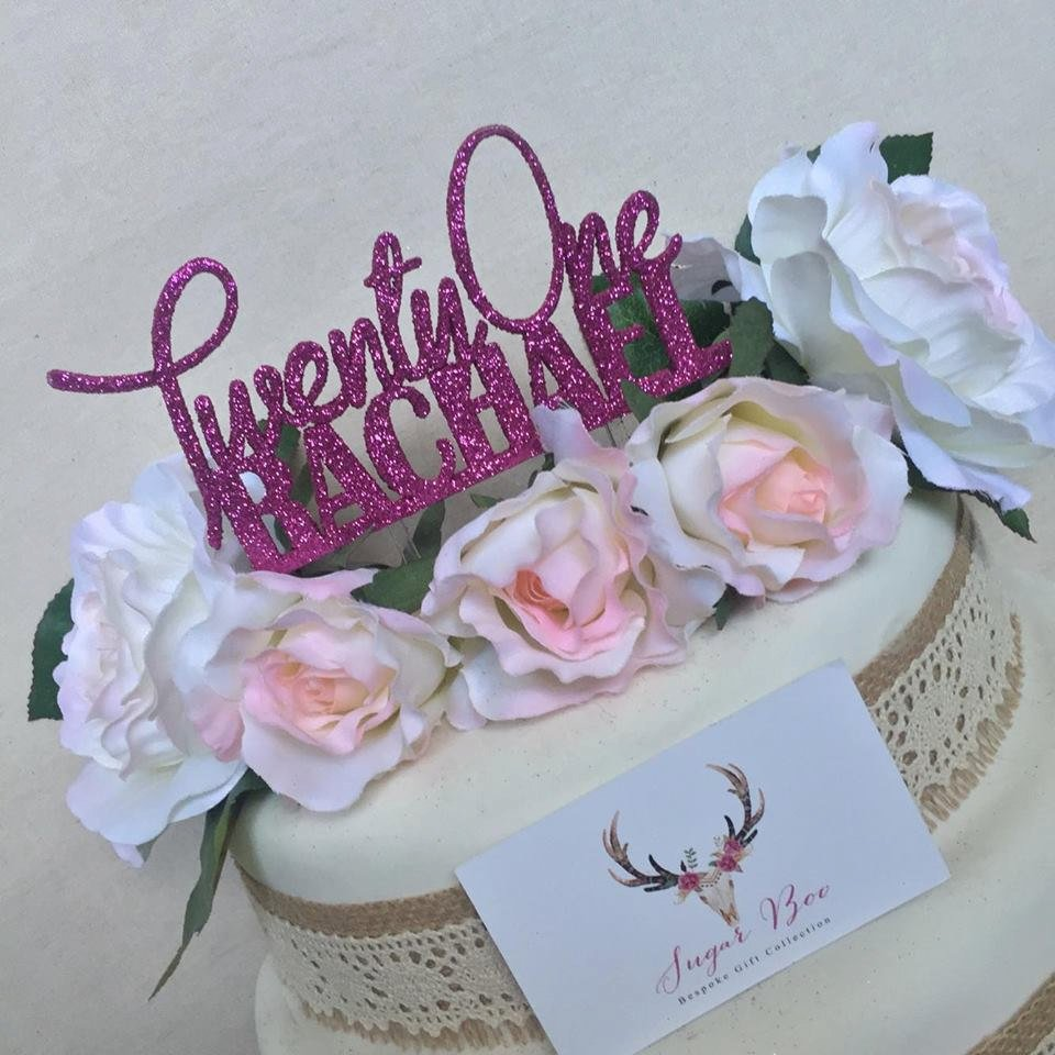 Twenty One Cake Personalised Topper First Birthday 21st Decoration