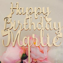 Personalised Happy Birthday Cake Topper with hearts Topper Cake Decoration Cake Decorating Personalised Cake Toppers Birthday Cake Topper