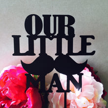 Our Little Man Baby Shower Cake Topper Moustache Cake Topper Cake Decoration Cake Decorating Mustache boy baby shower Sugar Boo Cake Toppers
