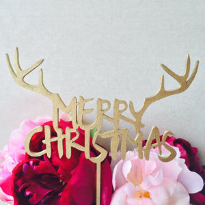 Merry Christmas Cake Topper Reindeer Cake Topper personalized cake toppers Cake Topper Cake Decoration Cake Decorating Xmas Cake Sugar Boo