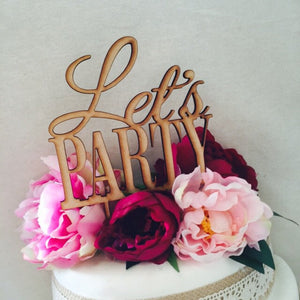 Let's Party Cake Topper Birthday Cake Topper Party Cake Topper Personalised Cake Topper Birthday Cake Topper Cake Decorations Sugar Boo