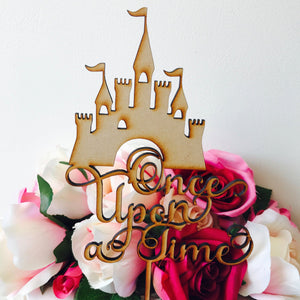 Once Upon a Time Cake Topper Decorations Cake Toppers Personalised Cake Toppers Cake Decoration Fairytale cake topper castle cake topper