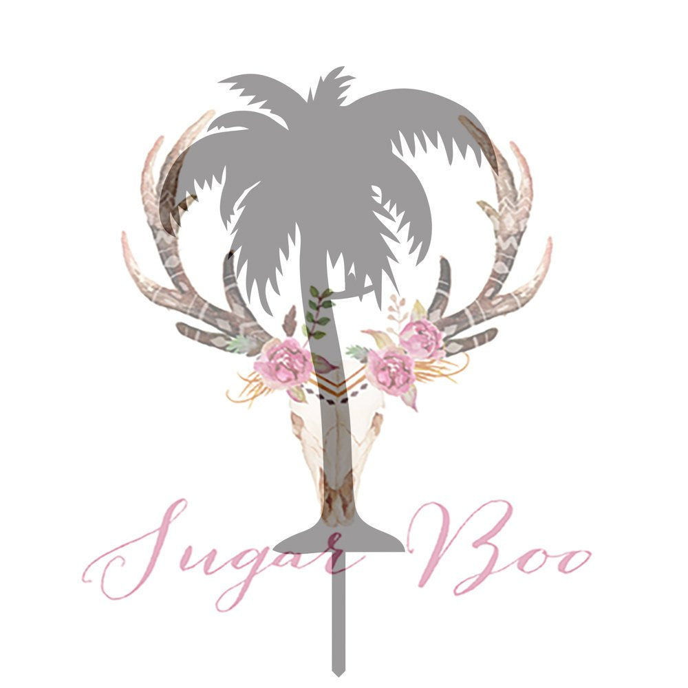 Palm Tree Silhouette Cake Topper Cake Toppers Cake Decoration Cake Decorating Silhouette Cake Topper Sugar Boo PALMTS1 Sugar Boo SugarBoo