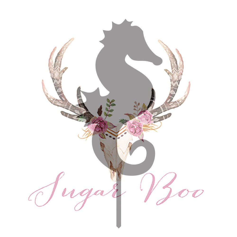 Seahorse Silhouette Cake Topper Cake Toppers Cake Decoration Cake Decorating Silhouette Cake Topper Sugar Boo SEAHS1 Sugar Boo Cake Toppers