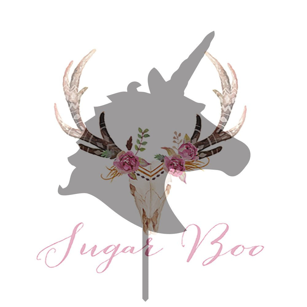 Unicorn Head Silhouette Cake Topper Cake Toppers Cake Decoration Cake Decorating Silhouette Cake Topper Sugar Boo UNICHS1 Sugar Boo SugarBoo