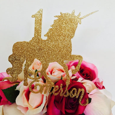Personalised Unicorn Cake Topper Unicorn Birthday Cake Topper Cake Decoration Cake Decorating Unicorn Cake Toppers Unicorn Decor Sugar Boo