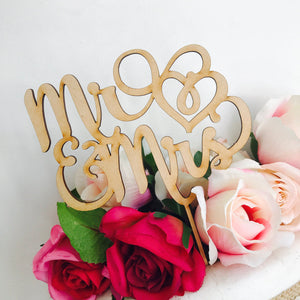 Mr & Mrs Wedding Cake Topper Wedding Cake Engagement Cake Topper Cake Decoration Cake Decorating Mr and Mrs Cake Topper Mr Mrs Hearts V2