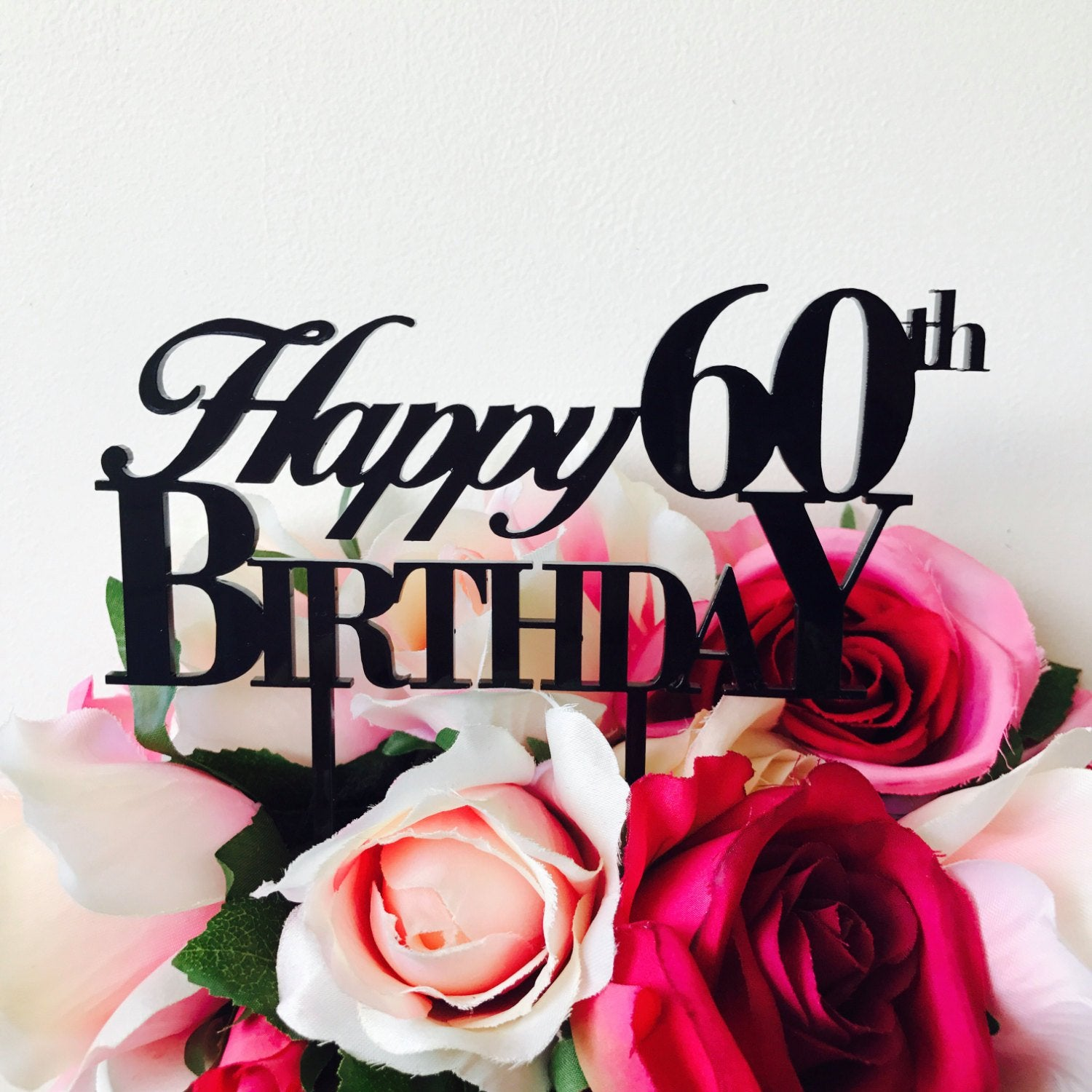 Happy 60th Birthday Cake Topper Number Decoration Decorating Sixtieth