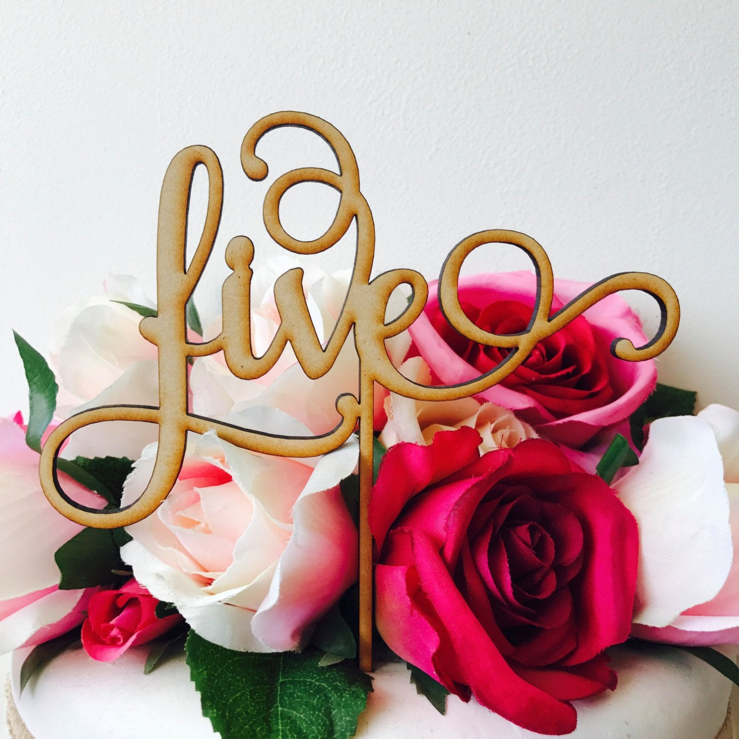 Five Cake Topper Birthday Decoration Decorating Personalised Toppers 5th