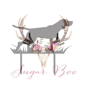 Hunting Dog Silhouette Cake Topper Cake Toppers Cake Decoration Cake Decorating Silhouette Cake Topper Sugar Boo HUNDGS2 Sugar Boo SugarBoo