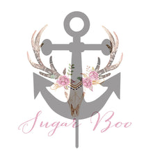 Nautical Anchor Silhouette Cake Topper Cake Toppers Cake Decoration Cake Decorating Silhouette Cake Topper Sugar Boo ANCHS1 Sugar Boo