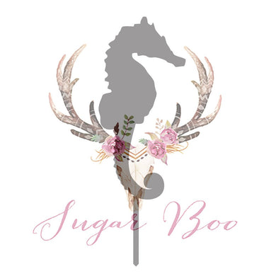 Seahorse Silhouette Cake Topper Cake Toppers Cake Decoration Cake Decorating Silhouette Cake Topper Sugar Boo SEAHS2 Sugar Boo Cake Toppers