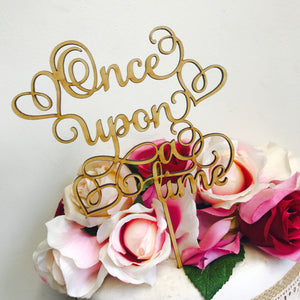 Wedding Cake Topper Once upon a time Cake Topper Custom Cake Decoration Cake Decorating Wedding Baby Shower Cake Topper Cake Toppers SMT