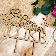 On Your Confirmation Cake Topper with Dove Cake Decoration Personalised Cake Toppers Confirmation Cake Topper Religious Cross Cake Topper