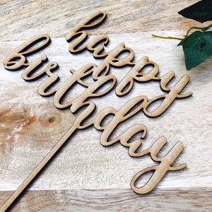 Happy Birthday Cake Topper Birthday Cake Topper Cake Decoration Cake Decorating Happy Birthday Cursive Topper SPMCG Sugar Boo SugarBoo