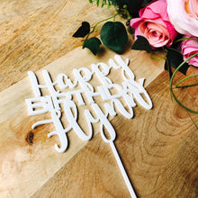Happy Birthday Cake Birthday Personalised Cake Topper Cake Decoration Cake Decorating Happy Birthday Topper Sugar Boo SugarBoo Cake top CPSP