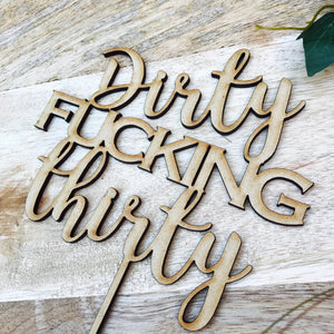 Potty Mouth / Funny - Cake Toppers