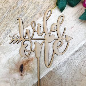 Wild One Cake Topper Birthday Cake Topper Cake Decoration Cake Decorating Personalised Cake Toppers 1st Birthday Cake Topper Boho Heart
