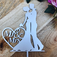 Wedding Cake Topper Mr & Mrs Silhouette Wedding Custom Wedding Cake Topper Personalised Wedding Cake Topper Bride and Groom Cake