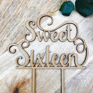 Sweet Sixteen Cake Topper 16th Birthday Cake Topper Cake Decoration Cake Decorating Birthday Cakes Sixteenth Cake V1 Sugar Boo Cake Toppers