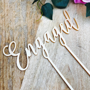 Engagement - Cake Toppers