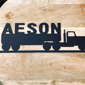 Personalised Truck Door Hanging / Wall Hanging Nursery Decor Wall Decor Boys Decor