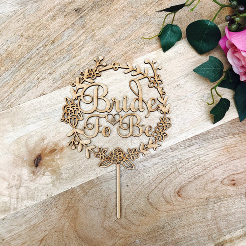 Bride To Be Cake Topper Bridal Shower Cake Kitchen Tea Cake Cake Topper Cake Decoration Cake Decorating Bride to be Topper wreath cake top