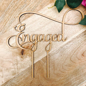 Download SVG File Cutting File Engaged cake topper by Sugarboo personalized cake toppers we are engaged Cake Topper Cake Engagement Cake