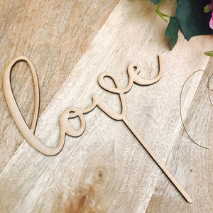 Rustic Love Cake Topper Baby Shower Wedding Cake Engagement Cake Topper Cake Decoration Cake Decorating Sugar Boo Cake Toppers SugarBoo MD