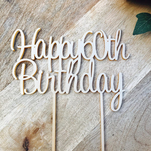 Happy 60th Birthday Cake Topper Decoration Decorating Personalised Toppers