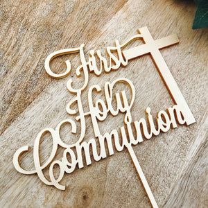 First Holy Communion Cake Topper Communion cake topper Personalised Communion Cake Topper Cake Decoration Cake Decorating Cross cake LVDCR