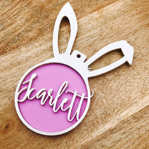 Personalised Easter Bunny Ornament Easter Bauble Personalized Easter Gift Easter Bunny Hanging Bauble