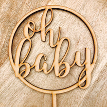 Oh Baby Cake Topper Cake Decoration Baby Shower Cake Topper Shower Cake Decoration Baby Shower Topper Oh Baby Cake Shower Cake Oh Baby CIRC