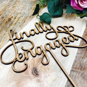 Finally Engaged Cake Topper Wedding Cake Engagement Cake Topper Cake Decoration Cake Decorating Engagement Cake Toppers Engaged Sugar Boo