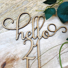 Hello 21 Cake Personalised Topper Twenty First Birthday Cake Topper 21st Birthday Cake Topper Cake Decoration Cake Decorating Twenty One