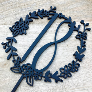 Wreath 18th Cake Topper Boho Cake Cake Topper Cake Decoration Cake Decorating wreath cake topper 18 cake Eighteenth Cake Topper