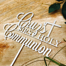 Holy Communion Cake Topper Communion cake topper Personalised Communion Cake Topper Cake Decoration Cake Decorating Cross cake top religious