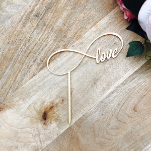 Infinity Love Wedding Cake Engagement Cake Topper Cake Decoration Cake Decorating Custom Cake Toppers Personalised Cake Toppers Sugar Boo