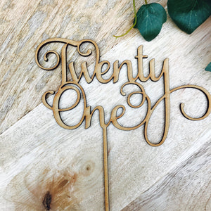 Twenty One Cake Topper 21st Birthday Cake Topper Cake Decoration Cake Decorating Birthday Cakes twenty one Cake Happy 21st Birthday SMT