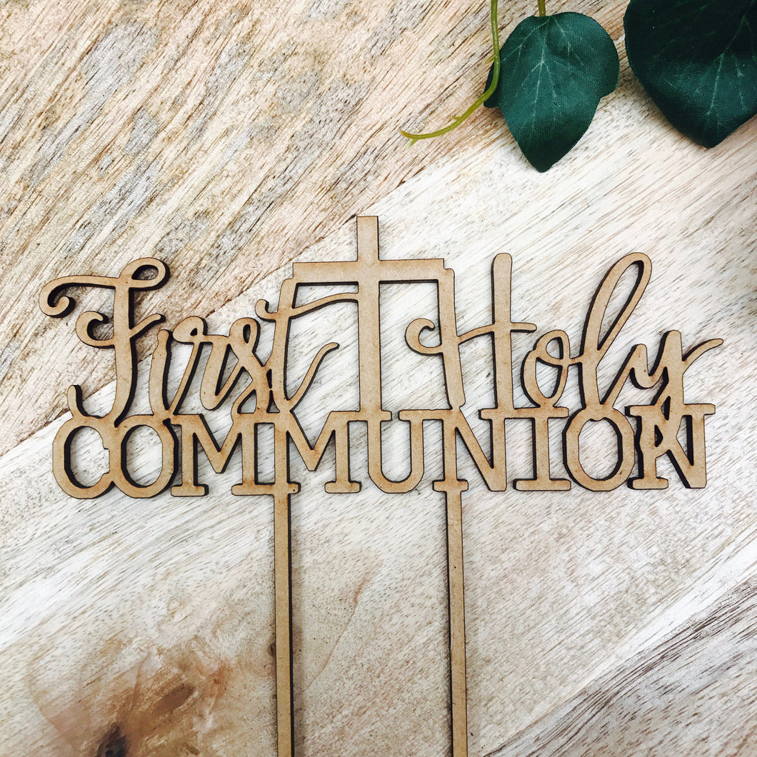 First Holy Communion Cake Topper Communion cake topper Personalised Communion Cake Topper Cake Decoration Cake Decorating V2 Sugar Boo