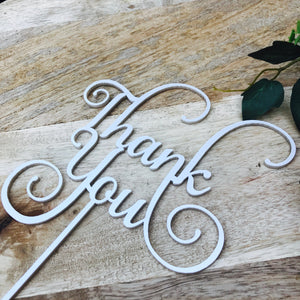 Thank You Cake Topper Thankyou Cake Thanks Cake Topper Cake Decoration Cake Decorating  Cake Toppers SMT
