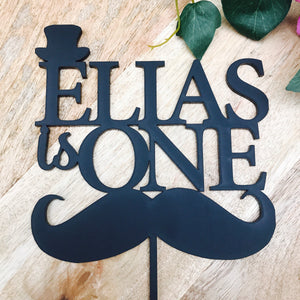 Personalised Is One Cake Topper Moustache 1st Birthday Moustache Birthday Cake Topper Cake Decoration Cake Decorating Mustache Is One Cake